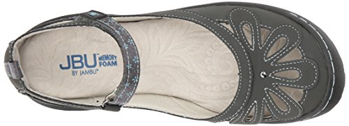 Jbu Da Jambu Donna Wildflower Encore Mary Jane Flat Carboncino