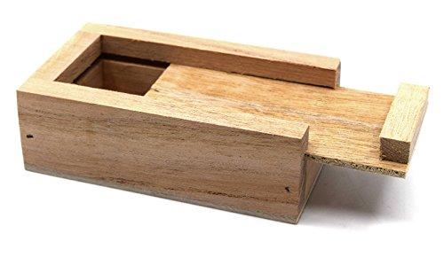Caja de madera para imanes de barra de 50 mm, con tapa deslizante – Eisco Labs: Amazon.es: Amazon.es