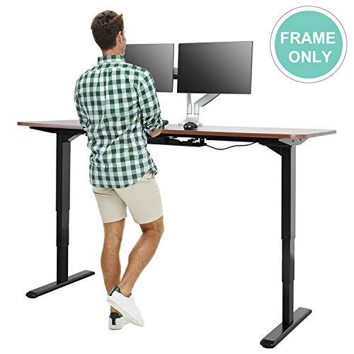 Electric Stand up Desk Frame - EleTab Dual Motor with Cable Management Rack Height Adjustable Sit Stand Standing Desk Base Workstation