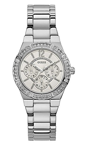 Guess Envy White Dial Stainless Steel Ladies Watch W0845L1