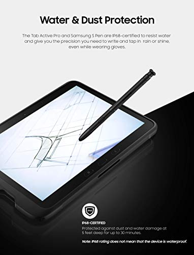 "Samsung Galaxy Tab Active PRO 10.1"" | 64GB & WiFi Water-Resistant Rugged Tablet, Black – SM-T540NZKAXAR"