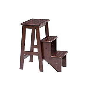 Boraam 36824 Folding Step Stool, 24-Inch, Cappuccino