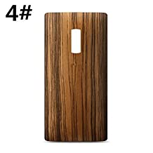 Battery Cover Carbon Wood Black Fundas Replacement Battery Back Case For One Plus Two OnePlus 2 Phone Case ( Color : 4# )