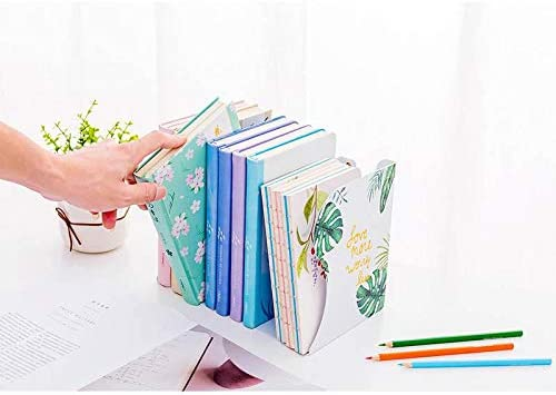 Porta libri telescopico a foglia bianca Fermalibri pieghevole reggilibro vuoto / Porta libri in metallo Vendi un pezzo