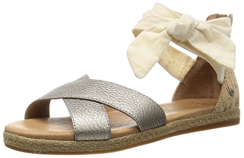 Ugg Australia Women's Idina Black Women's Sandals Grey Gold Leather