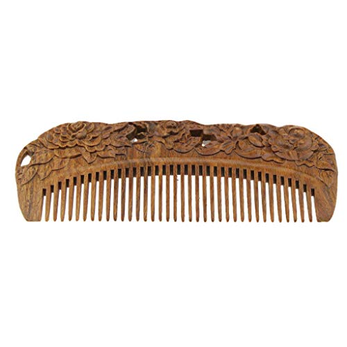 Handmade Green Sandalwood Wide Tooth Wood Comb Smooth Comfortable Hair Comb