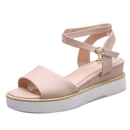 Sandales Croisee Pink TAOFFEN Sangle Femmes Mode xwvCYqSH