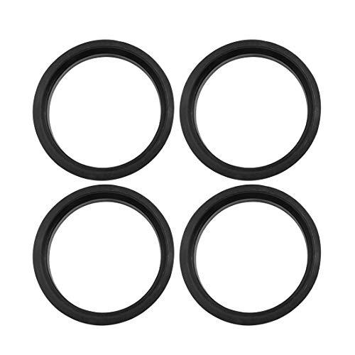 (X AUTOHAUX Car Hub Centric Rings Wheel Bore Center 66.6 to 57.1mm - 4pcs Black Plastic)
