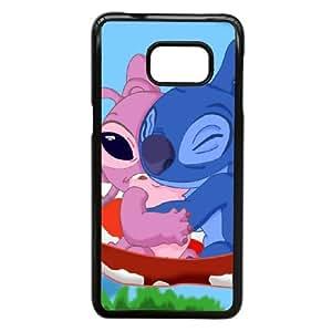 Samsung Galaxy S7 Edge Phone Case Black Lilo & Stitch Ohana Case Cover PP7U379223