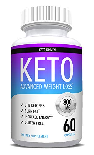 Keto Pills - Weight Loss Supplements to Burn Fat Fast - Boost Energy and Metabolism - Best Ketosis Supplement for Women and Men - Nature Driven - 60 Capsules