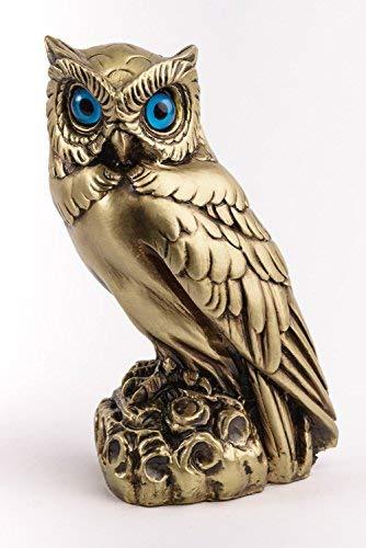Athena Bronze Pendant - Marinakis Handmade Bronze Plated Owl of Athena, Left