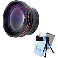 Vivitar Series 1 RedLine HD 0.43X Wide Angle Lens w/ Complete Cleaning Kit for Canon T1 T1i T2 T2i Cameras