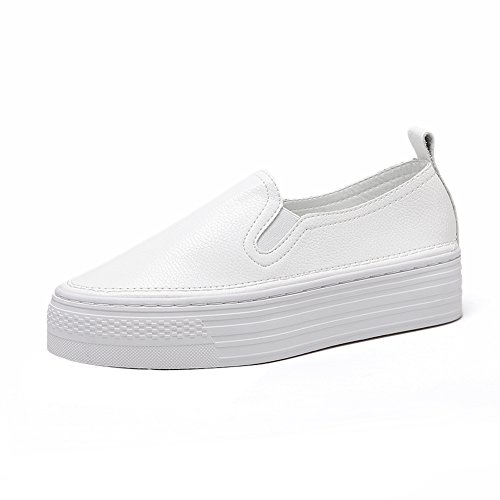 1TO9 Womens Running-Shoes Elastic Light-Weight Light-Weight Light-Weight White Microfiber Fashion Sneakers - 5.5 B(M) US B074W45BCL Shoes a76b0b