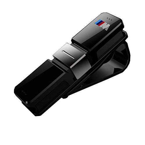 Portaocchiali con clip di fissaggio, per occhiali da vista e da sole, con logo BMW M Sport (colore: nero) No brand