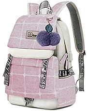 Asge skolryggsäck flicka skolväskor pojkar skolväska med ergonomisk design ryggsäck campus ryggsäck nylon vattentät dagväska dam fritidsryggsäck tonåring moderiktiga ryggsäckar