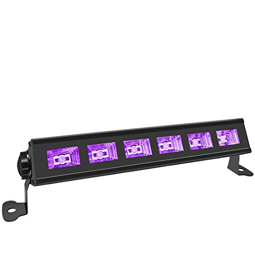 Black Light, HouLight 18W UV 6LEDs UV Bar Blacklights for Halloween, Birthday Parties, Stage Lighting, Weddings, Glow Parties and Black Light Party Supplies