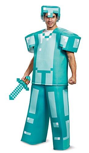 Disguise Men's Minecraft Armor Prestige Adult Costume, Blue, One Size ()