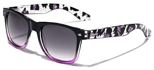 Animal Print Ladies Retro Fashion Wayfarer Sunglasses - Black & - Sunglasses Cheap Wayfarer Best