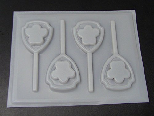 Paw Patrol Shield Hard Candy Lollipop Mold Paw Print Dogs