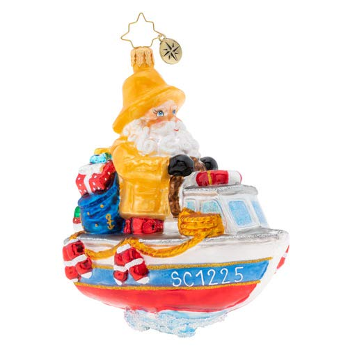 Christopher Radko Hand-Crafted European Glass Christmas Decorative Figural Ornament, We're Gonna Need A Bigger Boat (Ornaments Handcrafted Sale For Christmas)