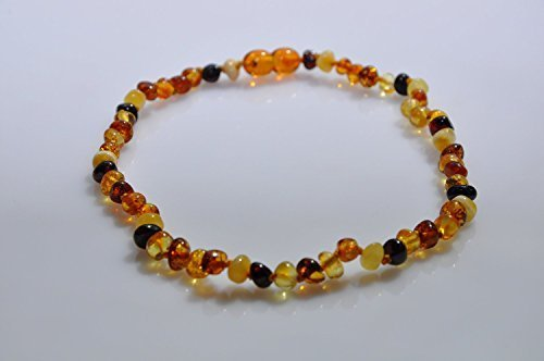 Amber Mix - Amber teething necklace. BAROQUE MIX BABY Amber Necklace. Baltic Amber Baby Teething Necklace.