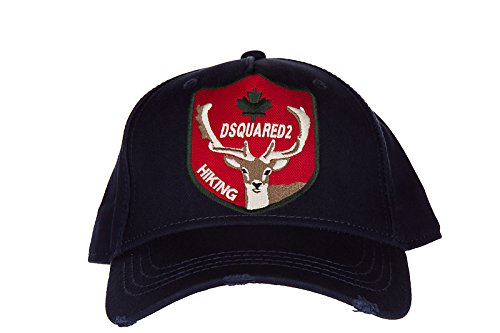 Dsquared2 adjustable men's cotton hat baseball cap gabardine blu by DSQUARED2 (Image #1)