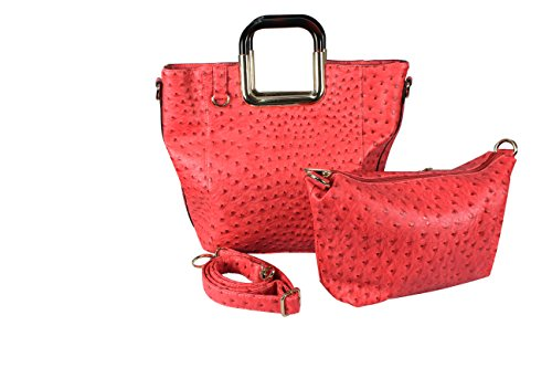 Peach Couture Elegance Personified 2 in 1 Tote and Satchel Exquisite Handbags Coral by Peach Couture