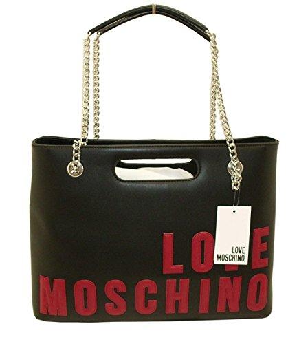 Love Moschino - Bolso al hombro para mujer negro negro