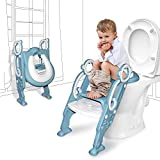 GrowthPic Toddler Toilet Seat with Step Stool Ladder for Boy and Girl Baby Potty Training Seat Kid's Toilet Trainer Seat Chair, Pink
