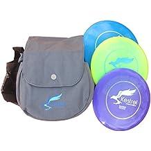 Kestrel Discs Golf Pro Set   3 Disc Pro Pack Bundle + Bag   Disc Golf Set   Includes Distance Driver, Mid-Range and Putter   Frisbee Golf Set