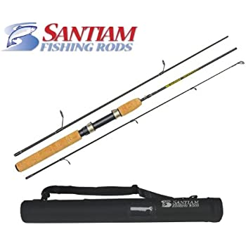 "Santiam Fishing Rods Travel Rod 3 Piece 5'6"" 2-6LB Ultra-light Graphite Spinning Rod"