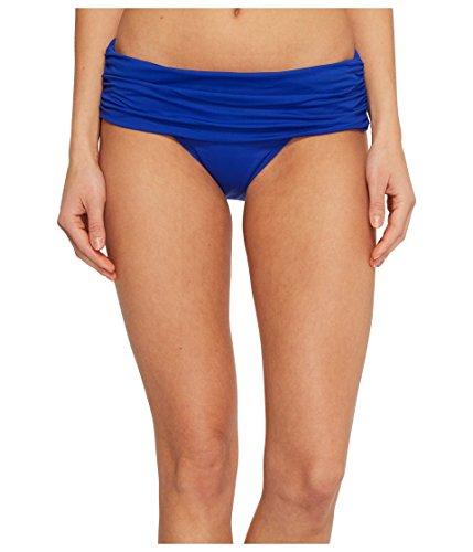 LAUREN RALPH LAUREN Women's Beach Club Solids Wide Shirred Banded Hipster Bottom Capri Blue 12