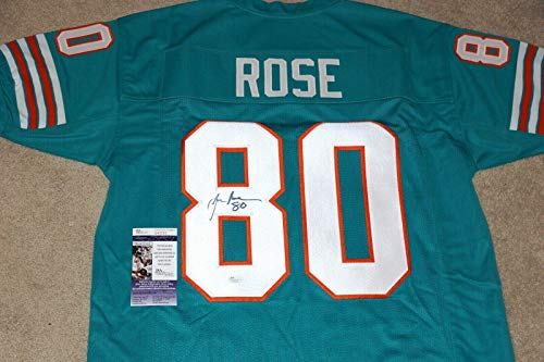 Joe Rose Autographed Jersey - #80 Throwback + COA S43223 - JSA Certified - Autographed NFL Jerseys