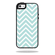 Mightyskins Protective Skin Decal Cover for OtterBox Symmetry Apple iPhone 5/5s/SE Case wrap sticker skins Aqua Chevron