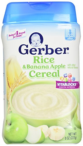 Gerber 2nd Foods Baby Cereal - Rice Banana Apple - 8 oz