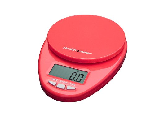 Health o meter HM1R Multifunctional Digital Kitchen Scale 11Lb/5000Gm, Red