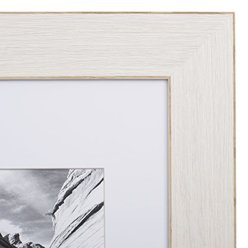 11x14 Picture Frame Barnwood Eggshell - Matted to 8x10, Frames by EcoHome