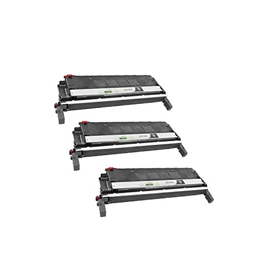 3PK Compatible Toner Cartridges: Three Each Of C9730A Black - For Use With HP Color LaserJet 5500 and 5550 Series Printers (Laser 5500 Series Printers)