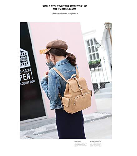 bolsa hombro hombro un hombro mujer BISSER colgada colgada de mujer Mochila de de Marrón 2018 viaje mujer retro Mochila bolsa Girl w6nSqAIn