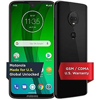 Moto G7 with Alexa Hands-Free - Unlocked - 64 GB - Ceramic Black (US Warranty) - Verizon, AT&T, T-Mobile, Sprint, Boost, Cricket, & Metro