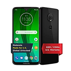 Moto G7 with Alexa Hands-Free – Unlocked – 64 GB – Ceramic Black (US Warranty) – Verizon, AT&T, T–Mobile, Sprint, Boost, Cricket, & Metro