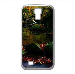 Autumn Forest River Watercolor style Cover Samsung Galaxy S4 I9500 Case (Rivers Watercolor style Cover Samsung Galaxy S4 I9500 Case)