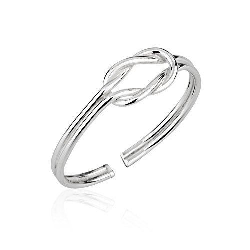 Chuvora 925 Sterling Silver Modern Infinity Promise Knot Thin Open Ended Band Toe Ring, 5mm by Chuvora