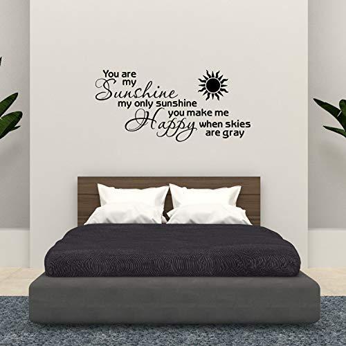 You Are My Sunshine Stencil (Empresal Wall Decal You are My Sunshine Vinyl Stencils Scripture Wall Ticker Bible)