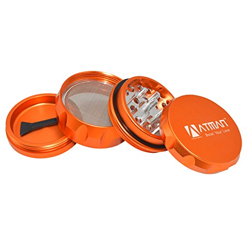 Atman-Grinders-4-Piece-Tobacco-Spice-Herb-Grinder-22-Inches-Premium-Grade-Aluminum-golden-orange
