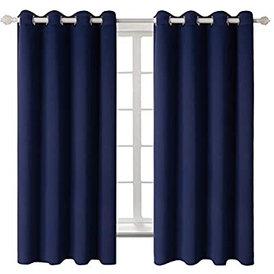BGment Room Darkening Thermal Insulated Blackout Curtains for Living Room, Metal Grommets Top,2 Panels from BGment