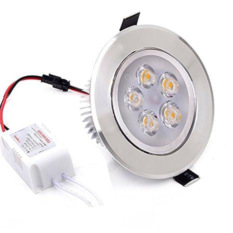 Eshion 5 W LED techo lámpara empotrable Downlight abajo Bombilla Spot Luz: Amazon.es: Iluminación