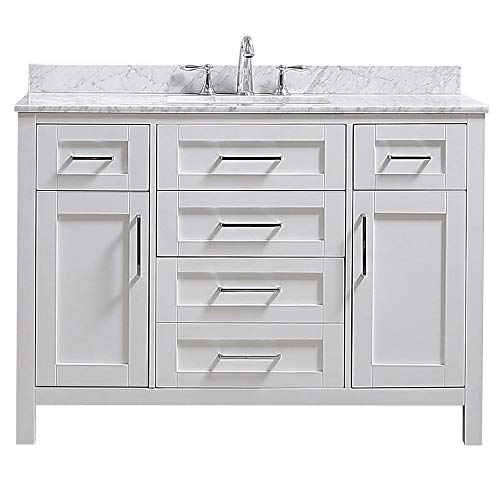 Ove Decors Tahoe 48W Marble Top Bathroom Single Sink Vanity, 48-Inch by - Vanities Bathroom And Tops Sink With Single Mirrors