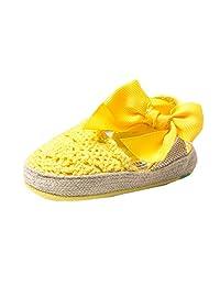 LeapFrog Newborn Baby Knit Crochet Soft Soled Bow Prewalk Sandals Toddler Shoes
