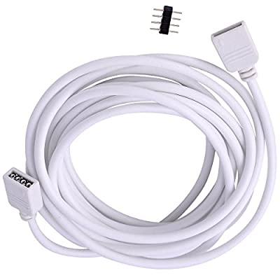 Led World 2.5M Extension Cable Connect 4pins Plug for RGB 5050 3528 LED Strip lights